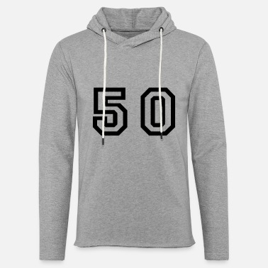 Number 50 Number - 50 - Fifty - Unisex Lightweight Terry Hoodie