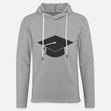 Convocation Minimliast Graduation Hat - Unisex Lightweight Terry Hoodie
