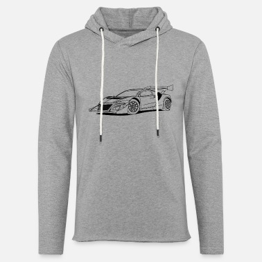Race Car Outline Concept Car Outlines - Unisex Lightweight Terry Hoodie