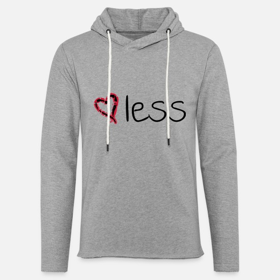 Heartless Hoodies & Sweatshirts - heartless - Unisex Lightweight Terry Hoodie heather gray