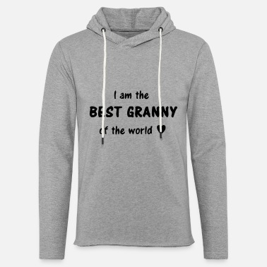 Grandmother best granny of the world / grandma grandmother - Unisex Lightweight Terry Hoodie