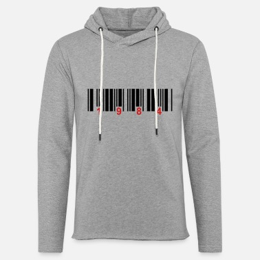 Number barcode 1984 - Unisex Lightweight Terry Hoodie