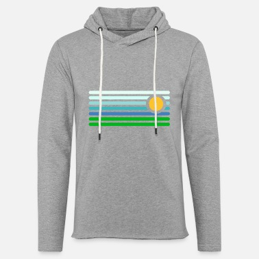 Landscape Abstract Landscape - Unisex Lightweight Terry Hoodie