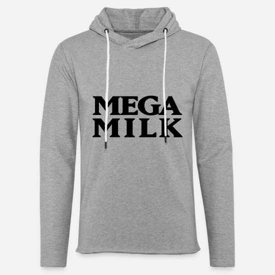 Tits Hoodies & Sweatshirts - Mega Milk - Unisex Lightweight Terry Hoodie heather gray