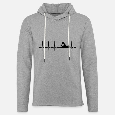 Swim Heartbeat Swimming Club Team Athlete Cool Fun Gift - Unisex Lightweight Terry Hoodie