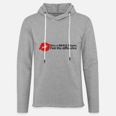Windband Kiss a brass player, feel the difference! - Unisex Lightweight Terry Hoodie