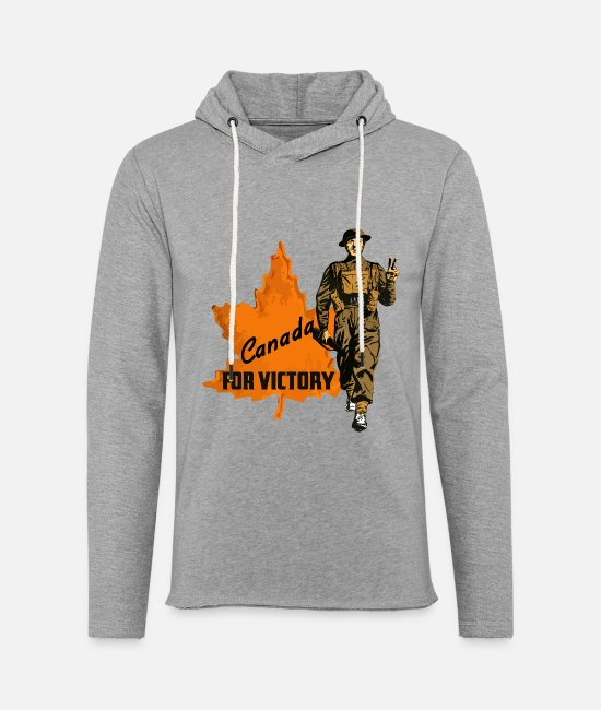 Canada Hoodies & Sweatshirts - Canada For Victory - Unisex Lightweight Terry Hoodie heather gray