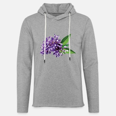 Lilac Cluster of Purple Lilacs - Unisex Lightweight Terry Hoodie
