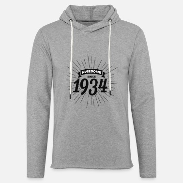 1934 Awesome since 1934 - Unisex Lightweight Terry Hoodie