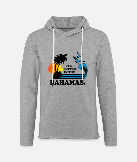 Heart Hoodies & Sweatshirts - Bahams - It's better in the bahamas cool t-shirt - Unisex Lightweight Terry Hoodie heather gray