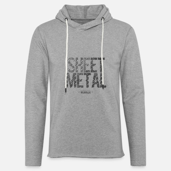Metal Hoodies & Sweatshirts - Sheet Metal Worker - Sheet Metal Worker - Unisex Lightweight Terry Hoodie heather gray