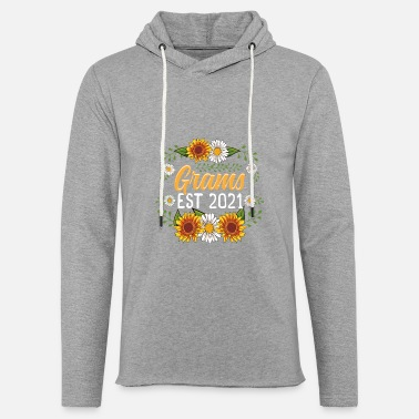 Grams Est 2021 Cute Sunflower Gifts New Grams - Unisex Lightweight Terry Hoodie