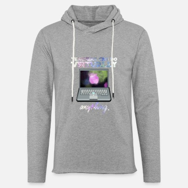 Funnys Teachers Can Do Virtually Anything - Unisex Lightweight Terry Hoodie