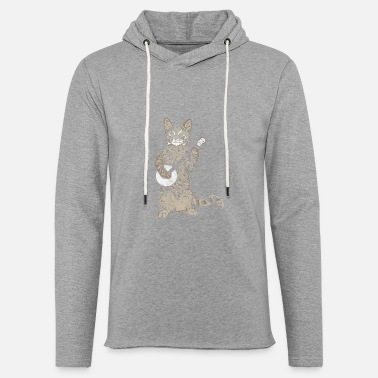 Bluegrass Banjo Cat Funny Retro Style Bluegrass Tabby Cat - Unisex Lightweight Terry Hoodie