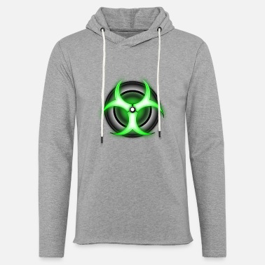 Bio zombie glowing biohazard - Unisex Lightweight Terry Hoodie