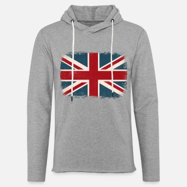 British Flag Distressed British Flag - Unisex Lightweight Terry Hoodie