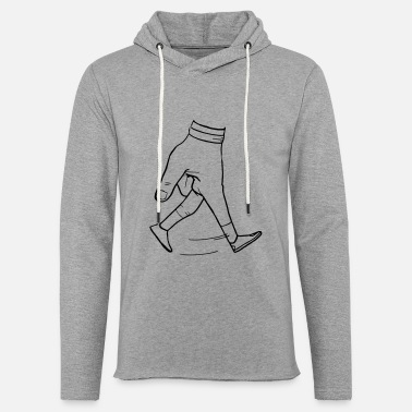 Walking Hands - Unisex Lightweight Terry Hoodie