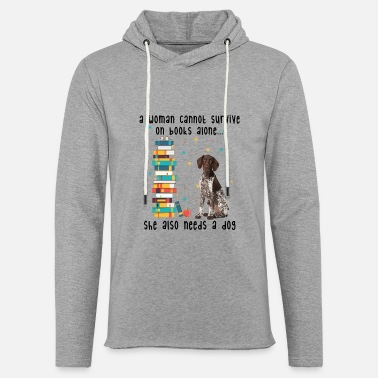 BOOK AND GERMAN SHORTHAIRED POINTER - Unisex Lightweight Terry Hoodie