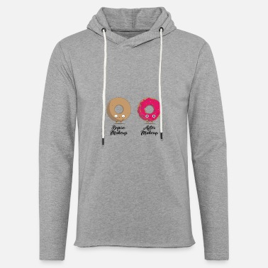 Before and after makeup doughnut - Unisex Lightweight Terry Hoodie