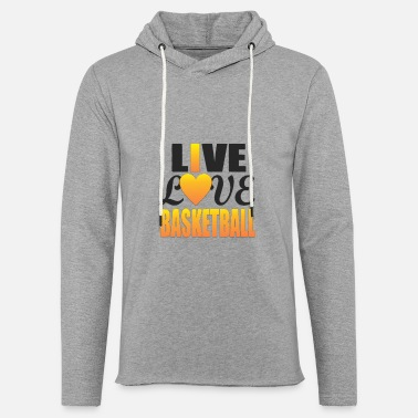 Record Champion Live, I Love Basketball - Unisex Lightweight Terry Hoodie