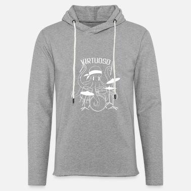 Percussion Virtuoso Kraken Drummer - Unisex Lightweight Terry Hoodie