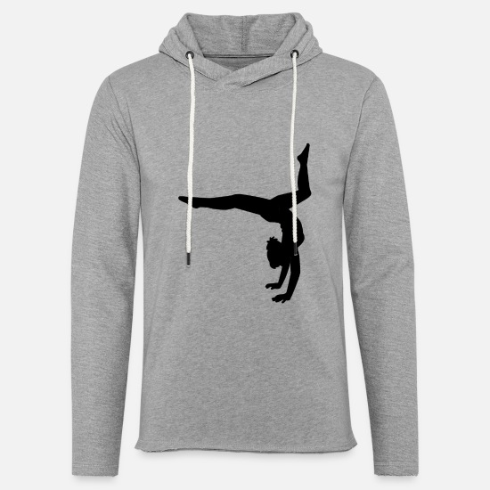 Gymnastic Hoodies & Sweatshirts - Dance Gymnastic Ballet Women Girls Teens T-shirts - Unisex Lightweight Terry Hoodie heather gray