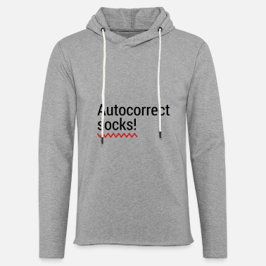 Mobile Phone Autocorrect Socks text message SMS Smartphone - Unisex Lightweight Terry Hoodie