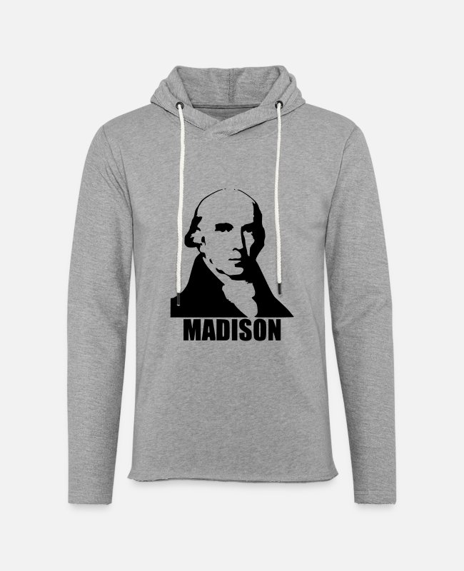 Madison Hoodies & Sweatshirts - James Madison - Unisex Lightweight Terry Hoodie heather gray
