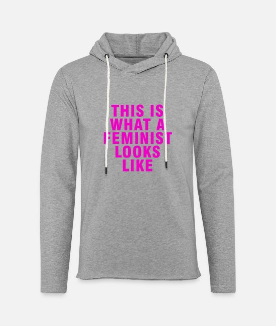 We Should All Be Feminists Hoodies & Sweatshirts - This Is What a Feminist Looks Like (purple) - Unisex Lightweight Terry Hoodie heather gray