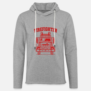firefighter truck - Unisex Lightweight Terry Hoodie