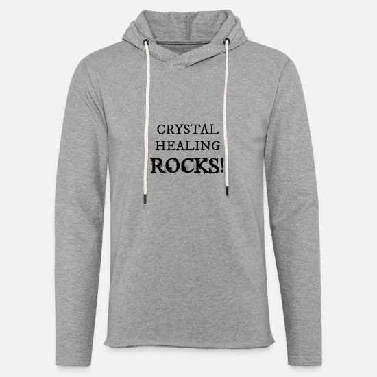 Healer Hoodies & Sweatshirts - Crystal Healing Rocks! - Unisex Lightweight Terry Hoodie heather gray