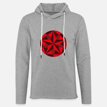 Crop Circle Star - Unisex Lightweight Terry Hoodie
