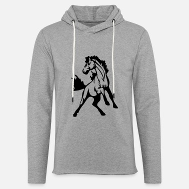 Stallion stallions or mustangs - Unisex Lightweight Terry Hoodie