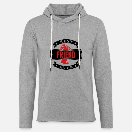 Father And Son Hoodies & Sweatshirts - Best Friend Ever - Unisex Lightweight Terry Hoodie heather gray