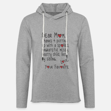 Hoodie Funny Mom Tee Favorite Daughter Hoodies For Women Funny Quotes For Wo