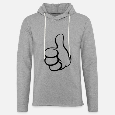 thumbs up - Unisex Lightweight Terry Hoodie