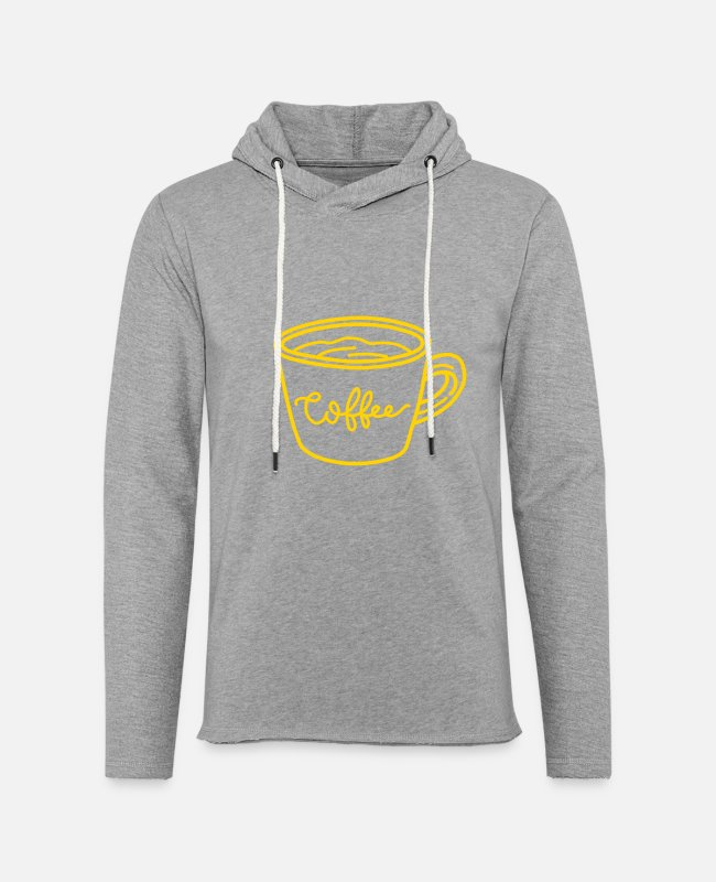 Line Hoodies & Sweatshirts - A Cup of Coffee - Unisex Lightweight Terry Hoodie heather gray