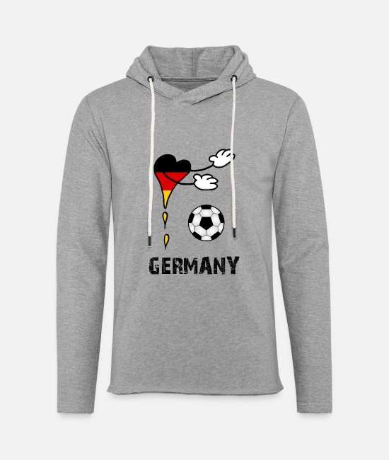 World Championship Hoodies & Sweatshirts - Fan Flag Soccer Germany - Unisex Lightweight Terry Hoodie heather gray