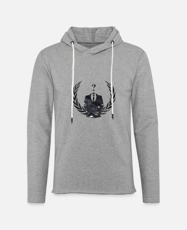 Acta Hoodies & Sweatshirts - Anonymous - Unisex Lightweight Terry Hoodie heather gray