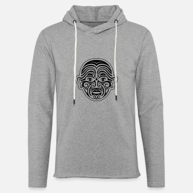 Maori face tattoo - Unisex Lightweight Terry Hoodie