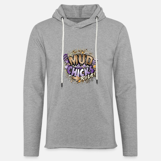 Mud Hoodies & Sweatshirts - Mud Chicks Rule - Unisex Lightweight Terry Hoodie heather gray
