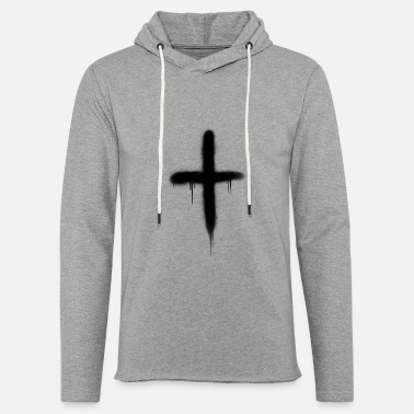 Cross spray painted - Unisex Lightweight Terry Hoodie