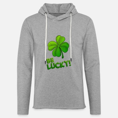 Clover Be Lucky! Four-leaved Clover - Unisex Lightweight Terry Hoodie