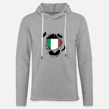 Schland Proud Italian flag - Awesome Italian flag t - sh - Unisex Lightweight Terry Hoodie