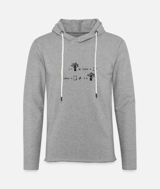 Art Hoodies & Sweatshirts - Do the math - Unisex Lightweight Terry Hoodie heather gray