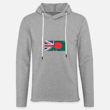 Uk British Bangladeshi Half Bangladesh Half UK Flag - Unisex Lightweight Terry Hoodie