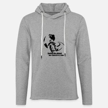 Xmen Men - saving the planet one commute at a time - Unisex Lightweight Terry Hoodie