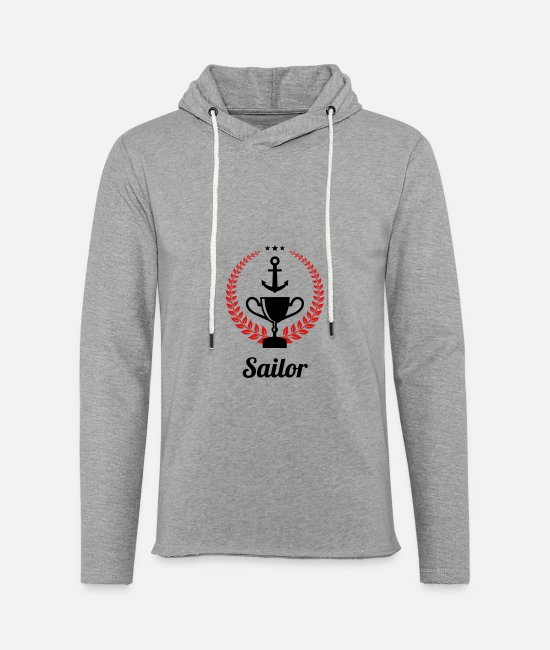 Boating Hoodies & Sweatshirts - Sailing - Boat - Sailor - Freedom - Unisex Lightweight Terry Hoodie heather gray
