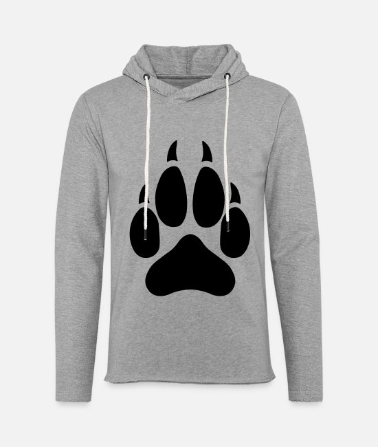Wolves Hoodies & Sweatshirts - Wolf Paw - Unisex Lightweight Terry Hoodie heather gray