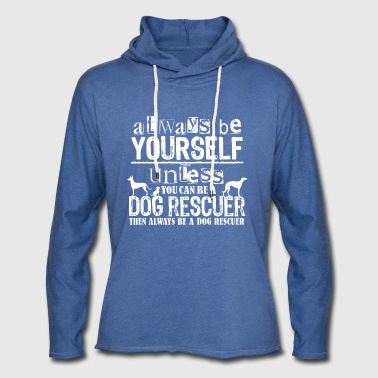 Dog Rescuer White - Unisex Lightweight Terry Hoodie